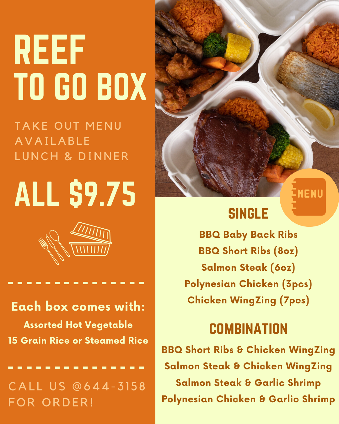 【Sand Dune】Reef To Go Lunch & Dinner Box