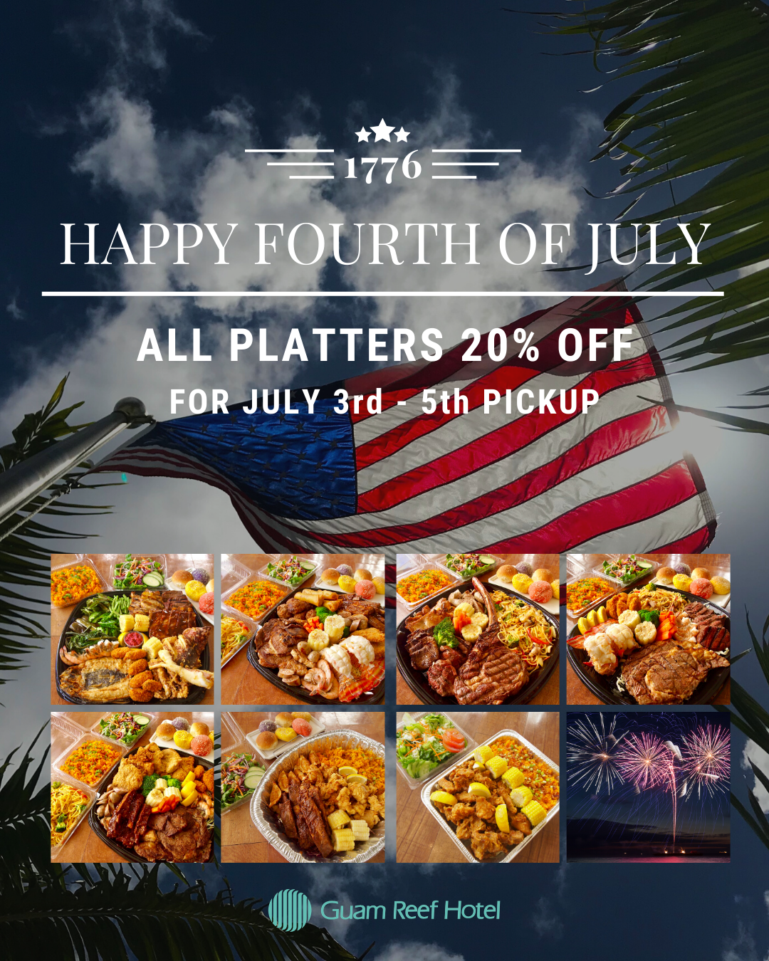 4th of July Weekend: All Platters 20%OFF!