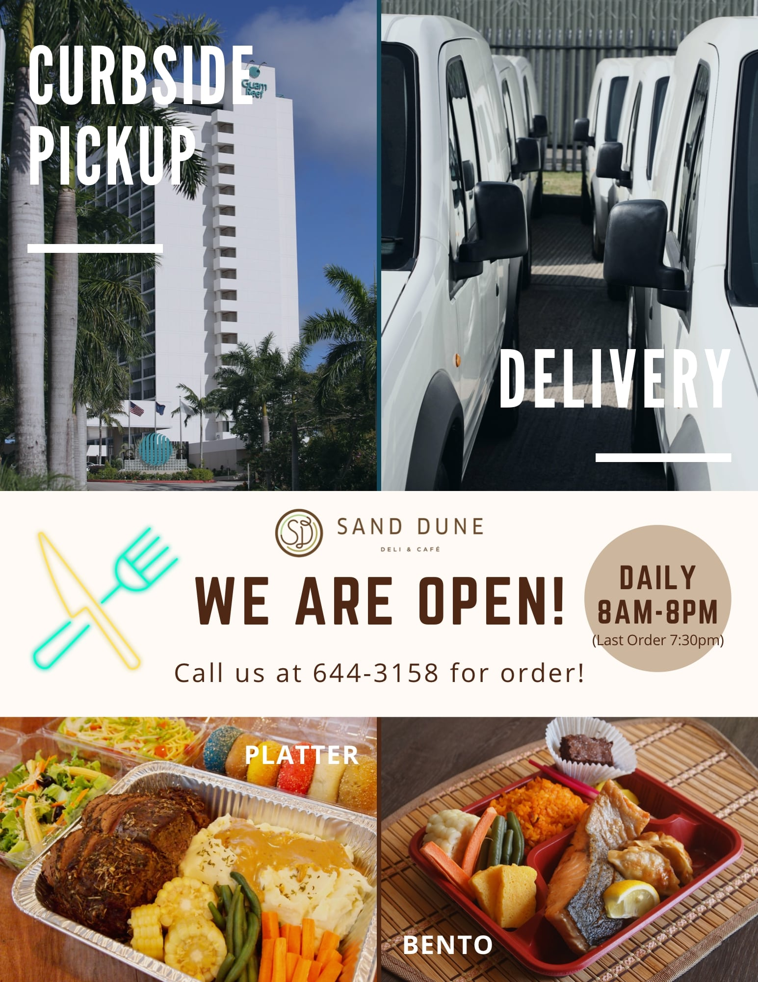 【Sand Dune】Open for Curbside Pickup & Delivery!