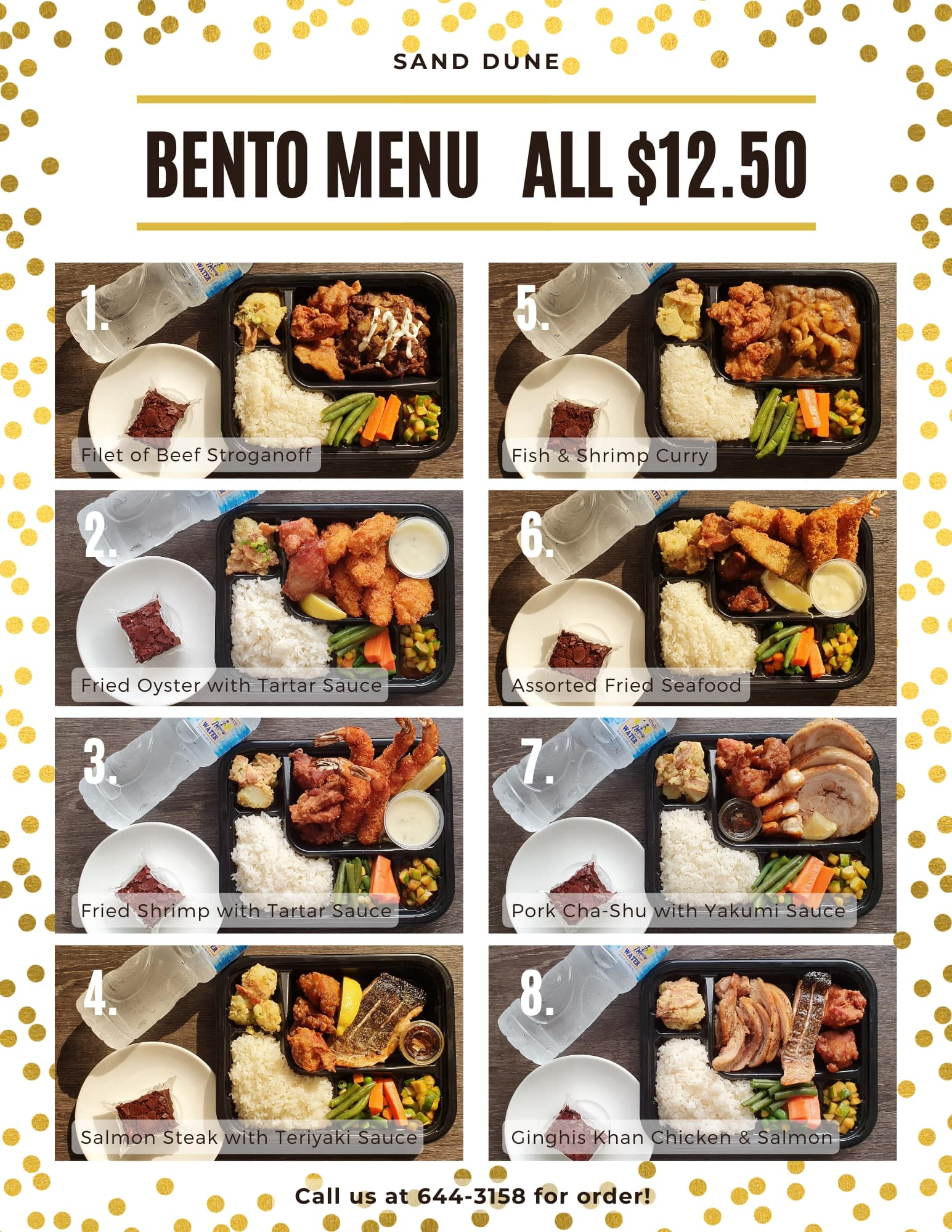 【Sand Dune】New Bento Box Menu