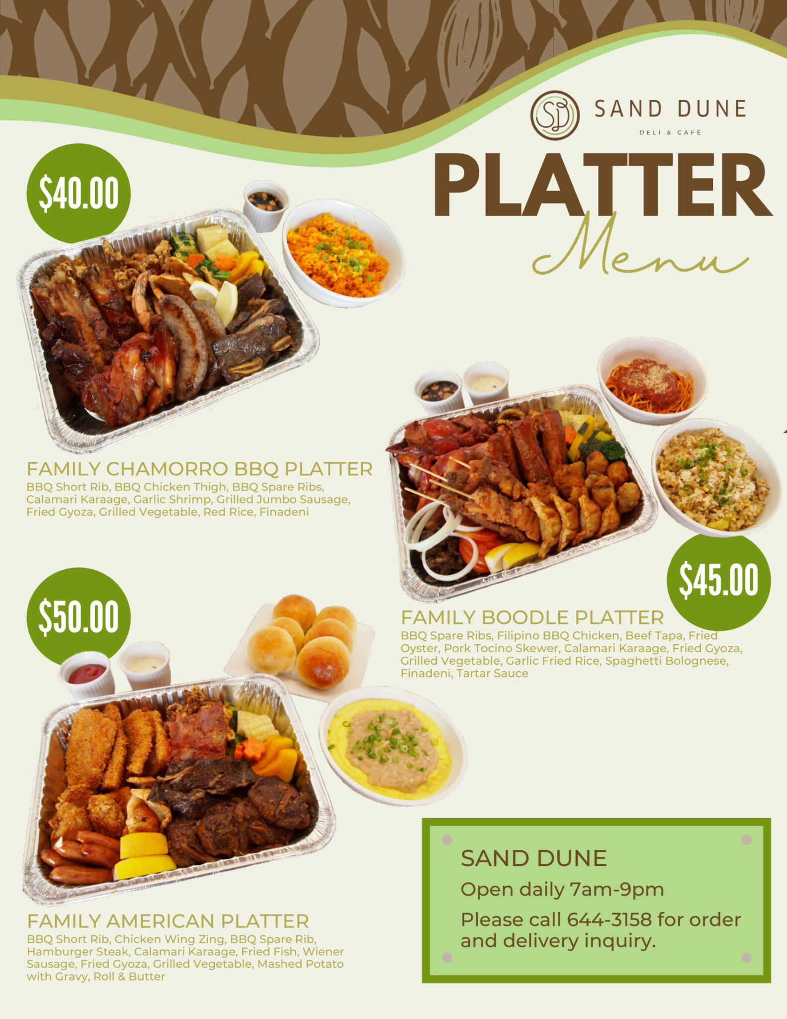 【Sand Dune】Reef Family Platters