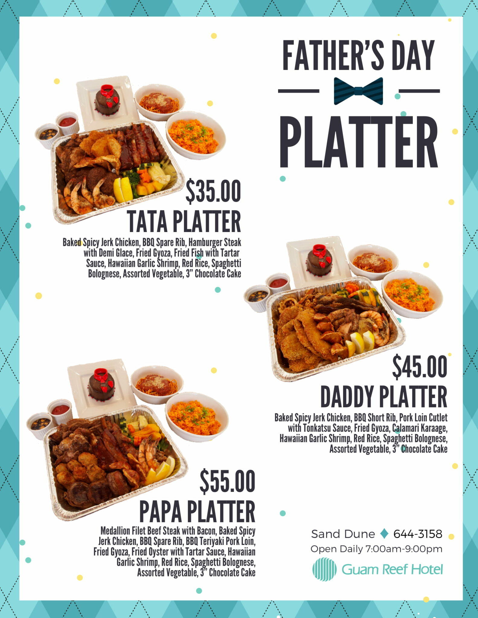 【Sand Dune】Father's Day Special Menu